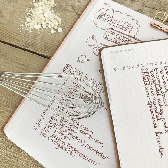 kookboek met inhoudsopgave