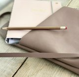Paper Time leren clutch tasje dusty rose_