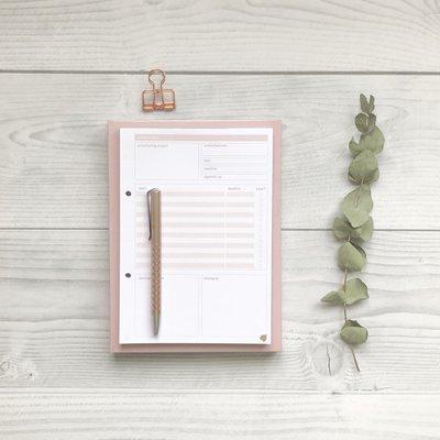 Navulling projectplanning Werkplanner