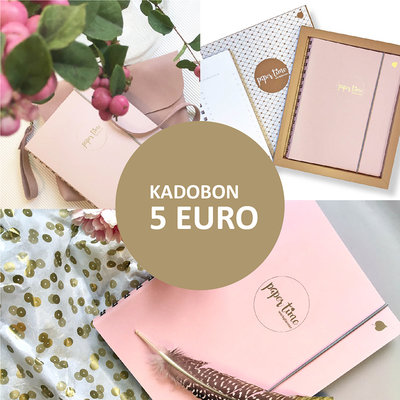 Paper Time kadobon 5 Euro
