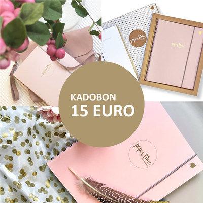 Paper Time kadobon 15 Euro